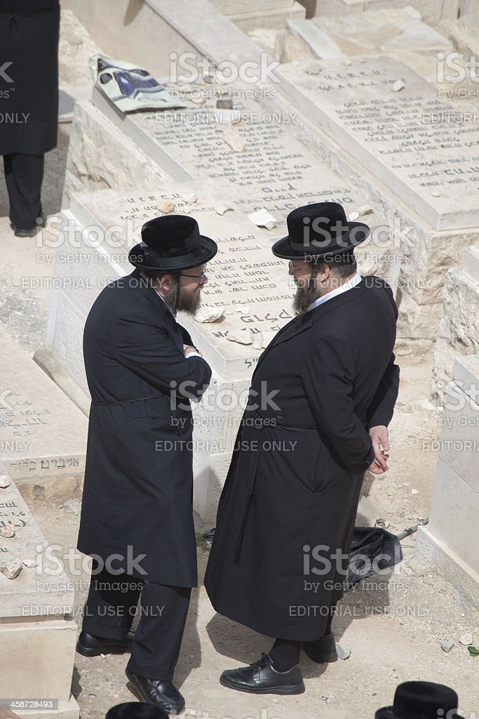 Two Hassidic Jews in conversation royalty-free stock photo