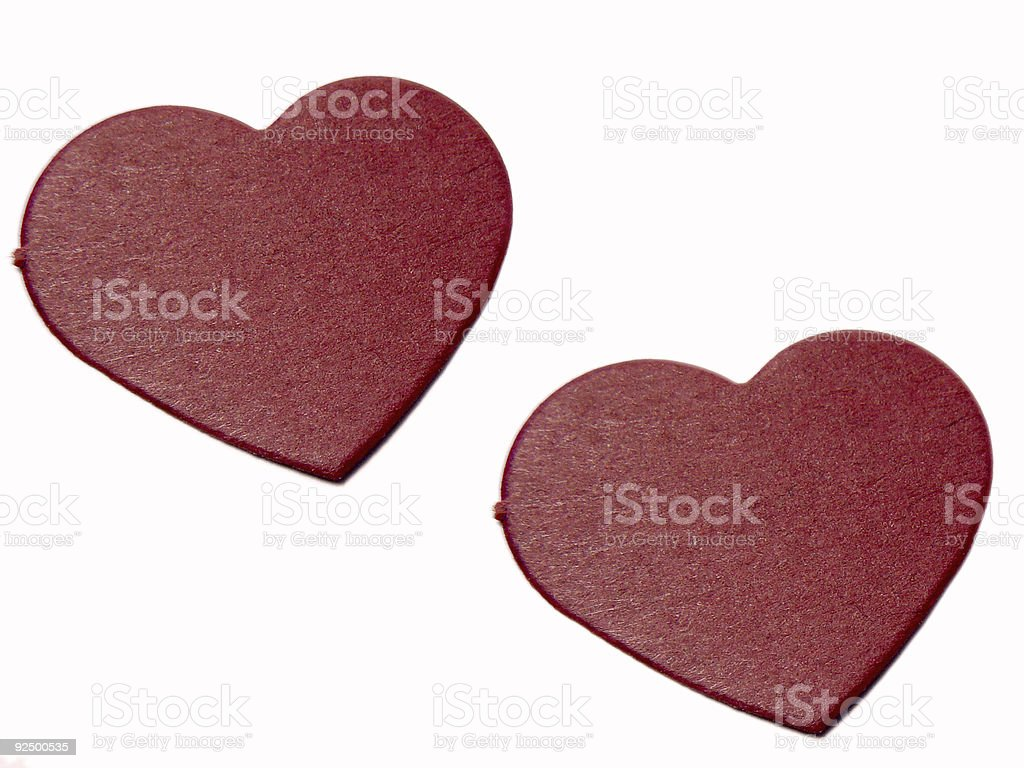 Two Hearts isolated on White royalty-free stock photo