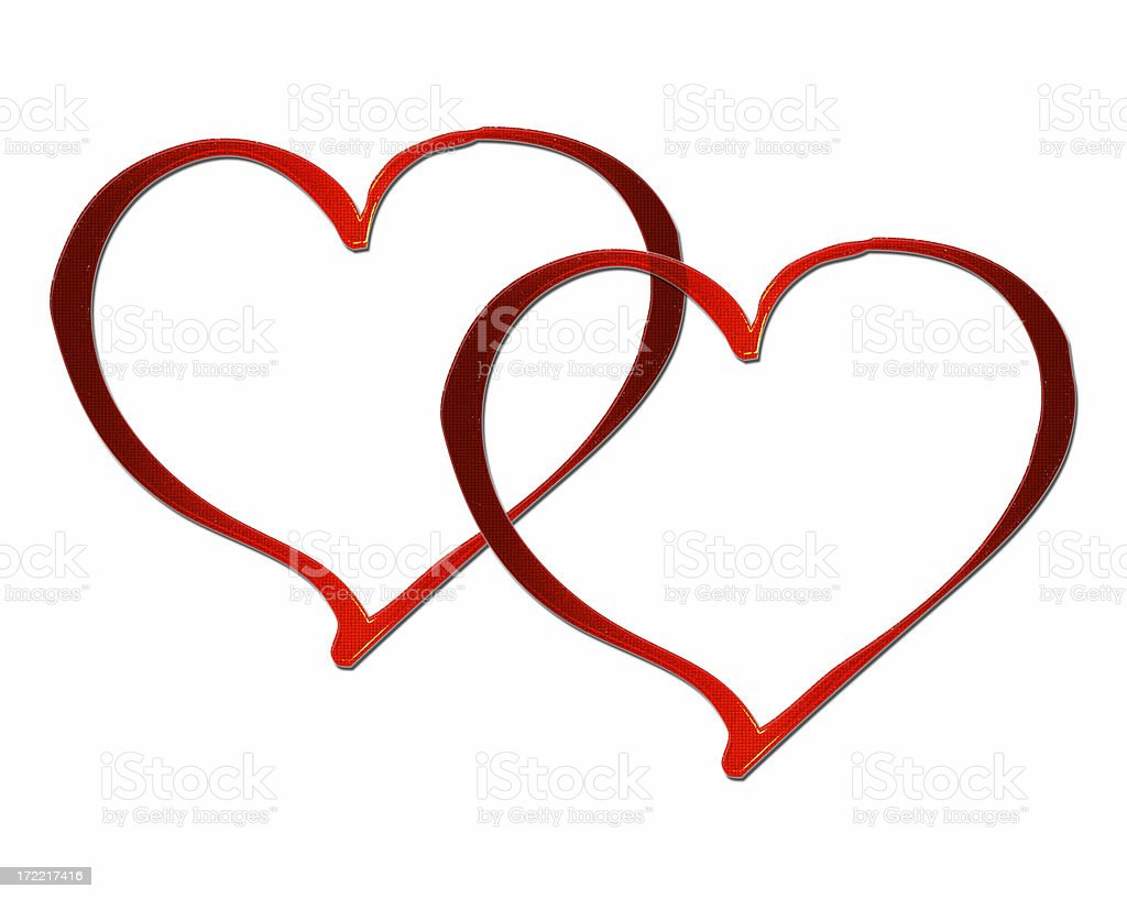 Two Hearts stock photo