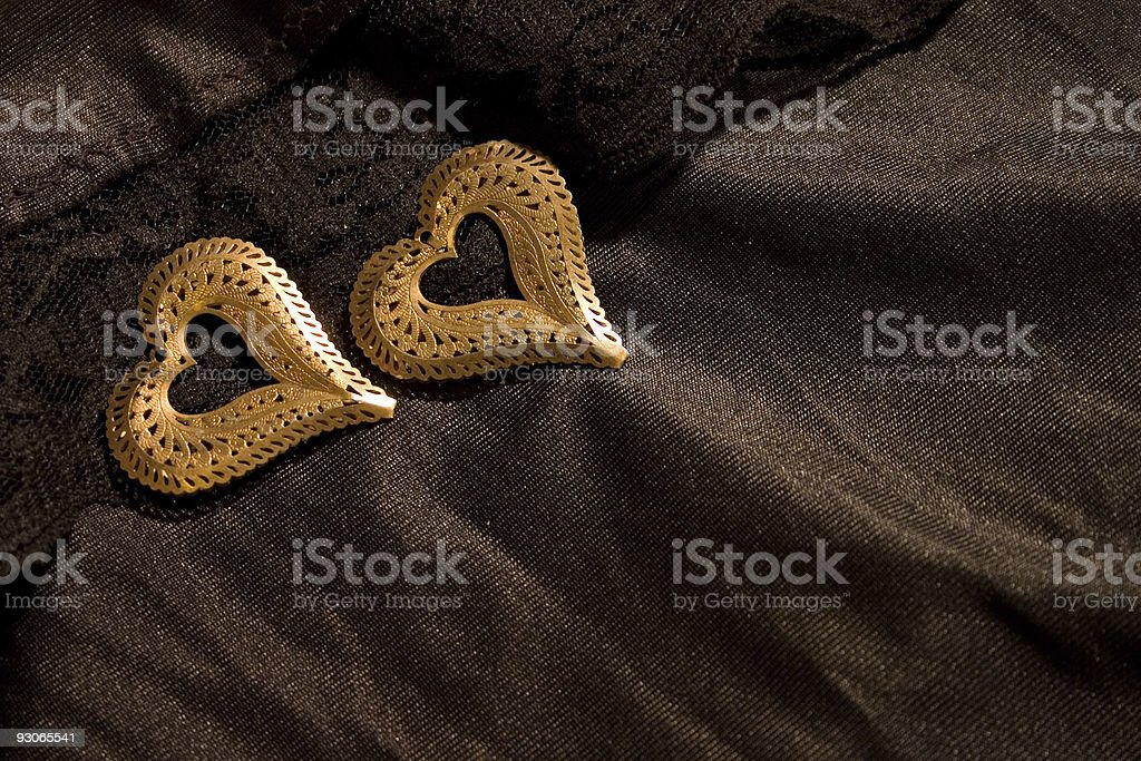Two hearts royalty-free stock photo