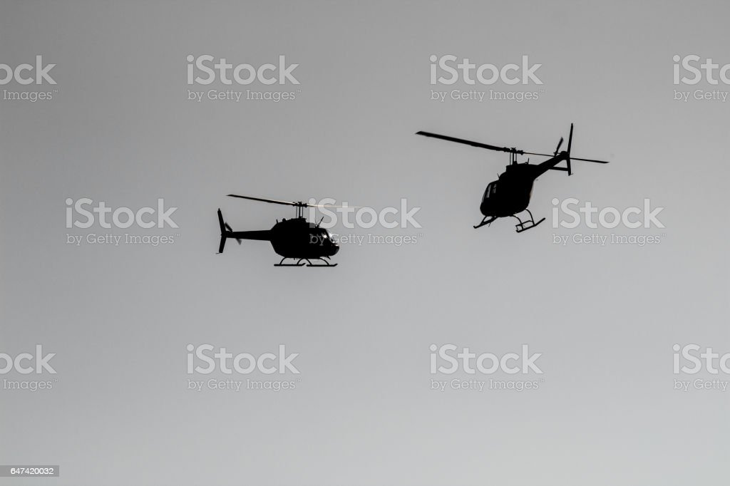 Dois Helicopters - foto de acervo