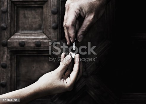 istock Two helping hands 471632831