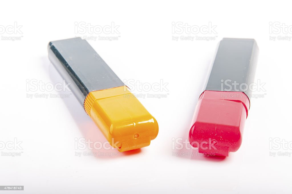 Two highlighter royalty-free stock photo