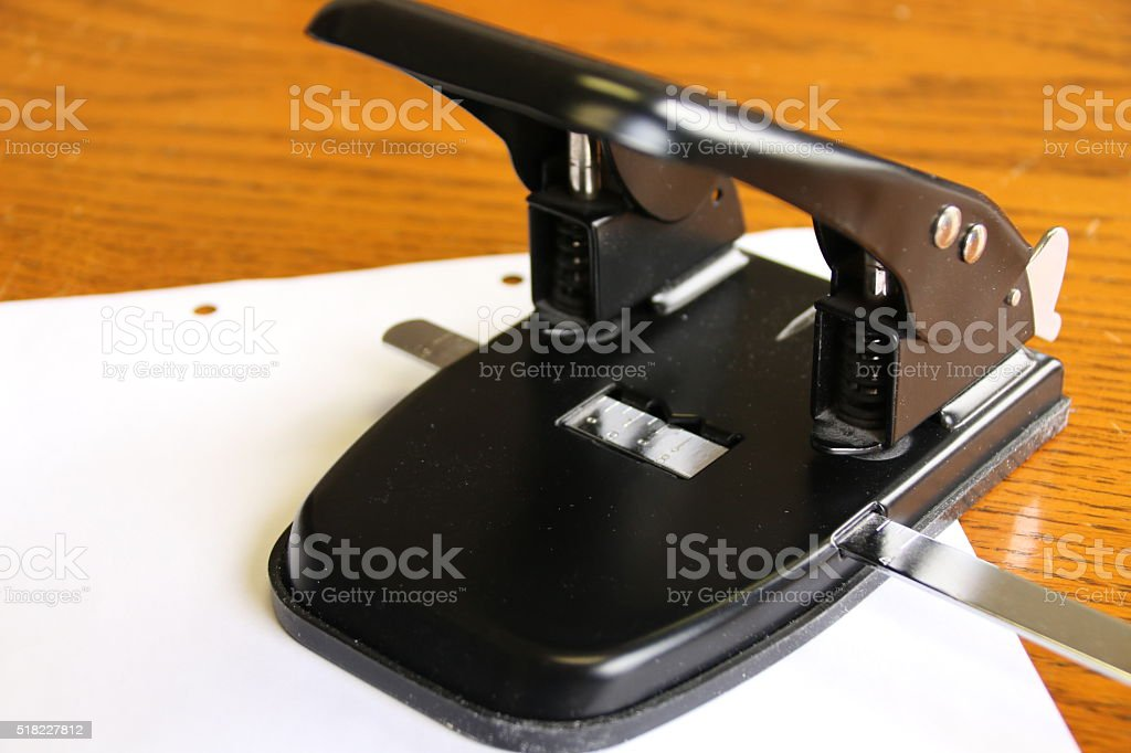 Two Hole Punch 1 stock photo