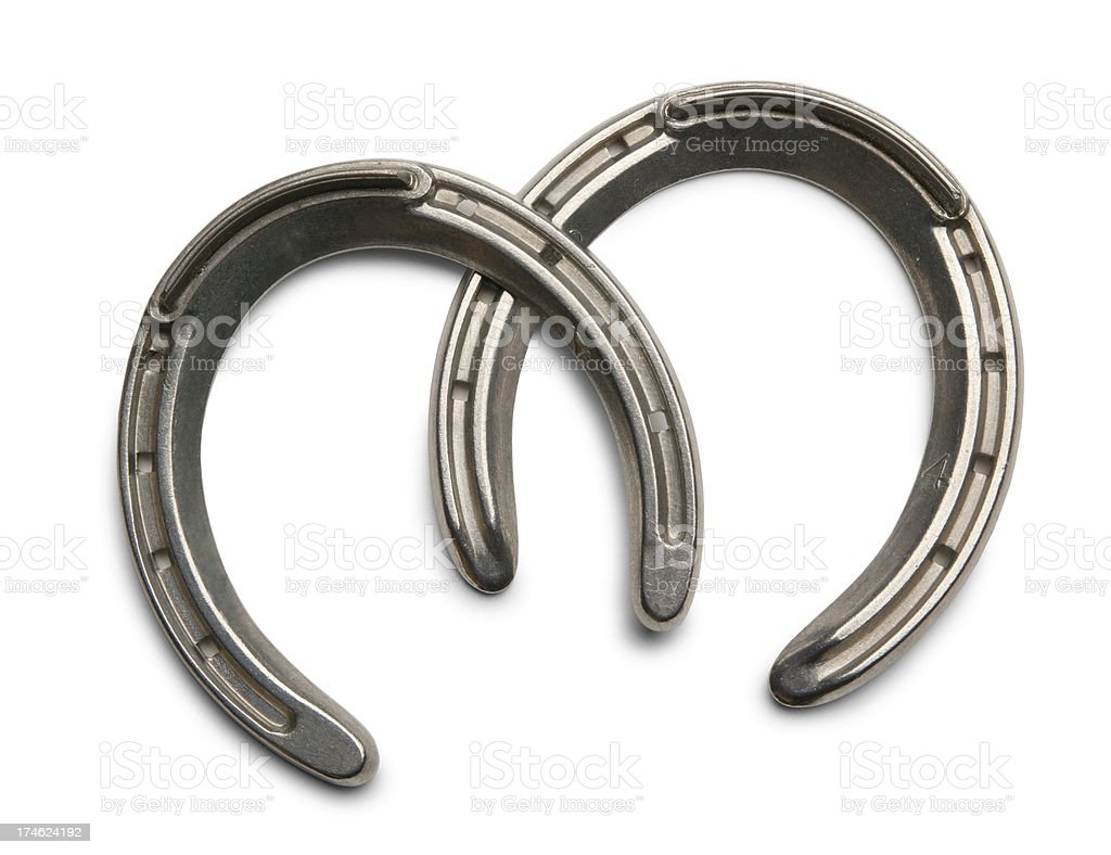 Two Horseshoes stock photo
