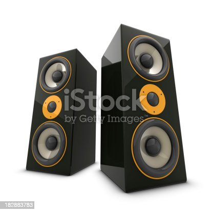 istock Two huge speakers 182883783