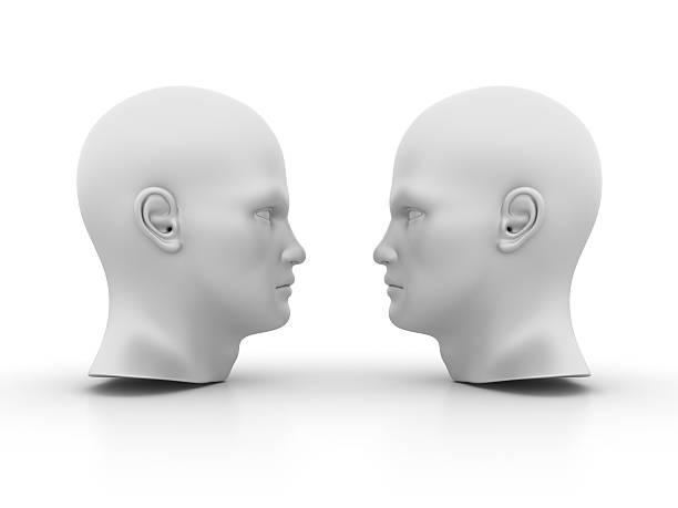 Two Human Heads ストックフォト
