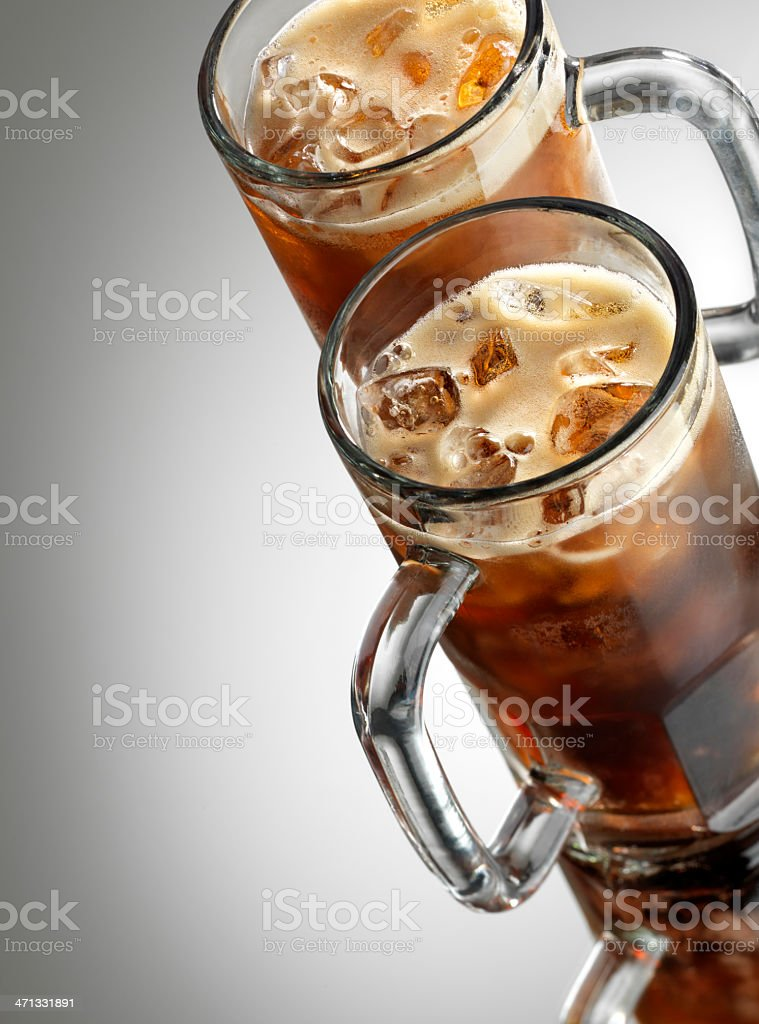 Two ice cold Soft Drinks stock photo