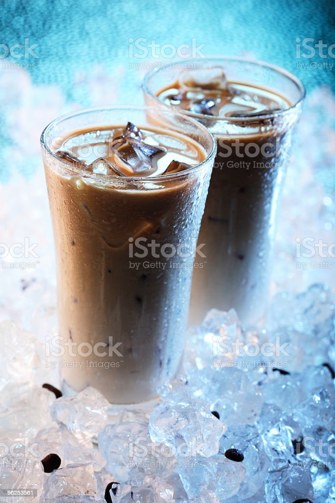 Café gelado - Foto de stock de Azul royalty-free