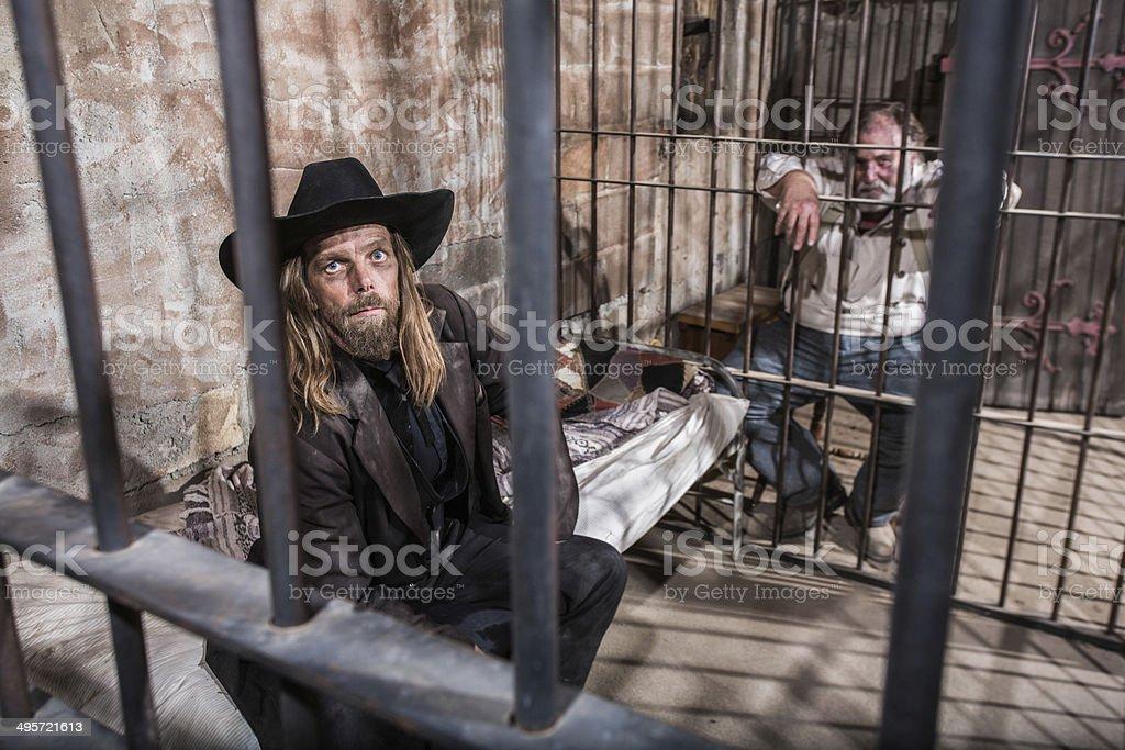 Two Imprisoned Men stock photo