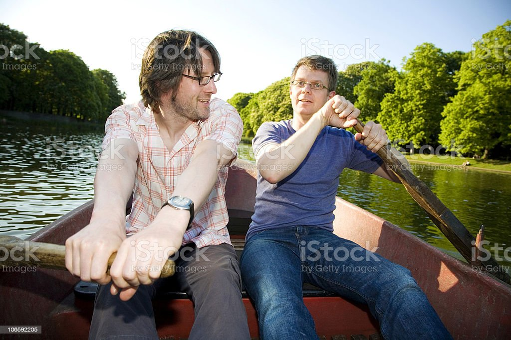 two in the same boat royalty-free stock photo
