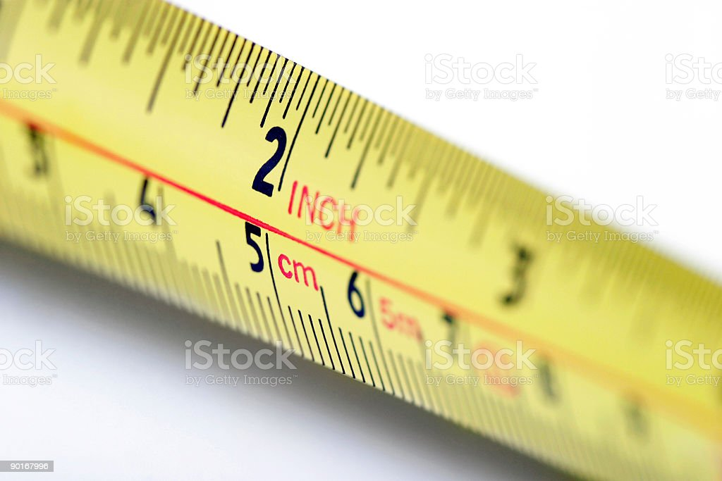 Two inches stock photo