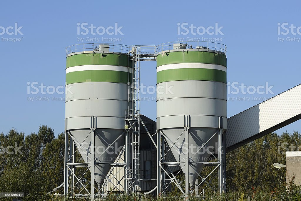 Two industrial silos royalty-free stock photo