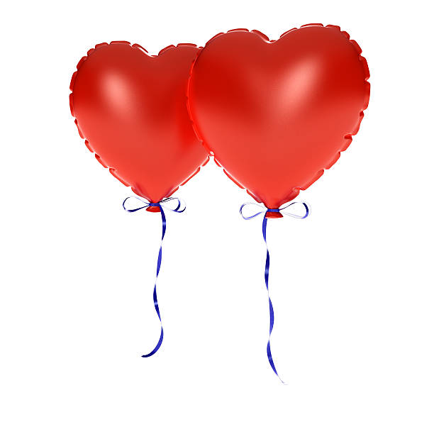 two Inflate hearts - Photo