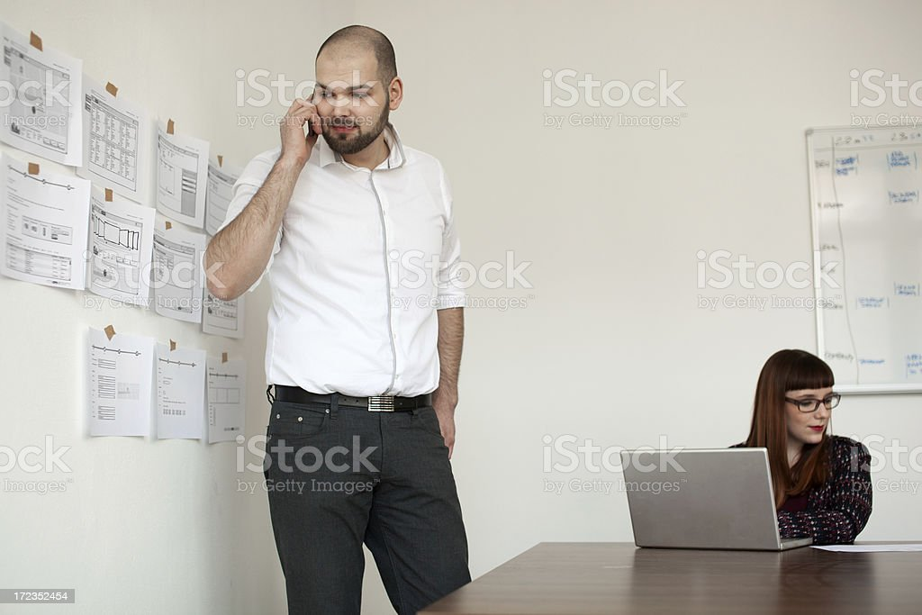 Two Information technology professionals royalty-free stock photo