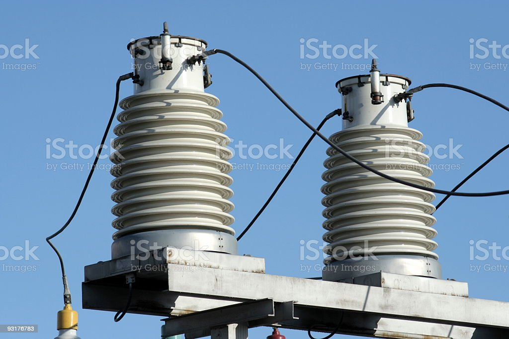 Two insulators royalty-free stock photo