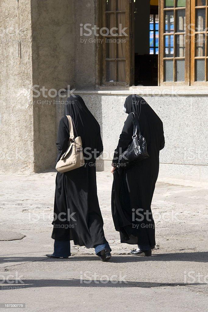 Two Iranian Women stock photo
