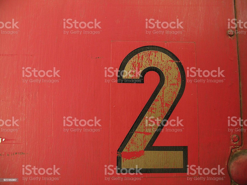 Two is a magic number royalty-free stock photo