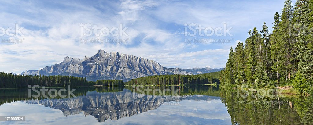 Two Jack Lake royalty-free stock photo
