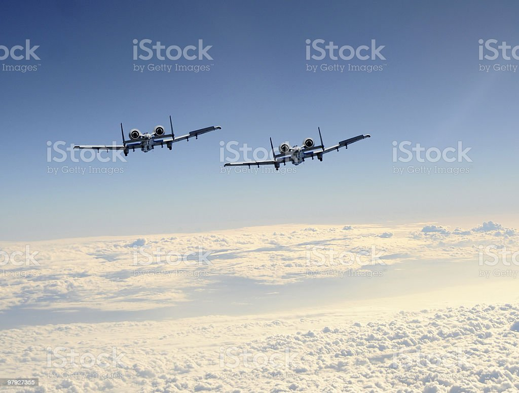 Two jetfighter royalty-free stock photo
