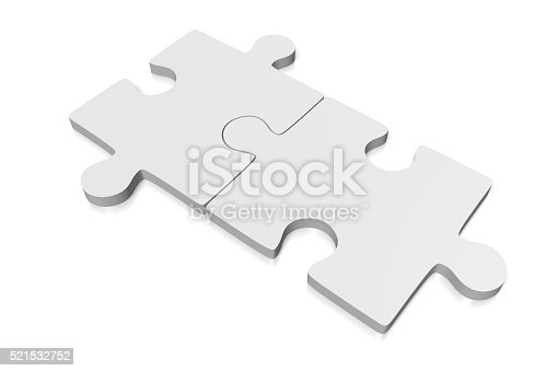 istock 3D two jigsaw puzzles 521532752
