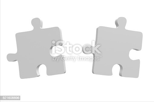 istock 3D two jigsaw puzzles 521608896