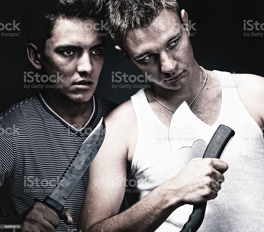 Two killers stock photo