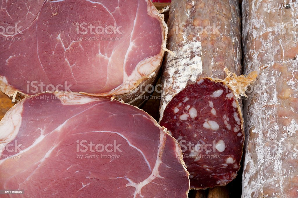 Two Kinds of Meat stock photo