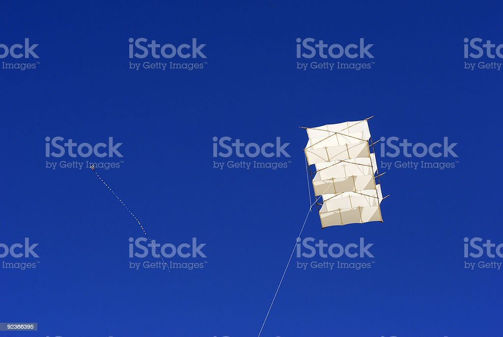Two kites in the air royalty-free stock photo