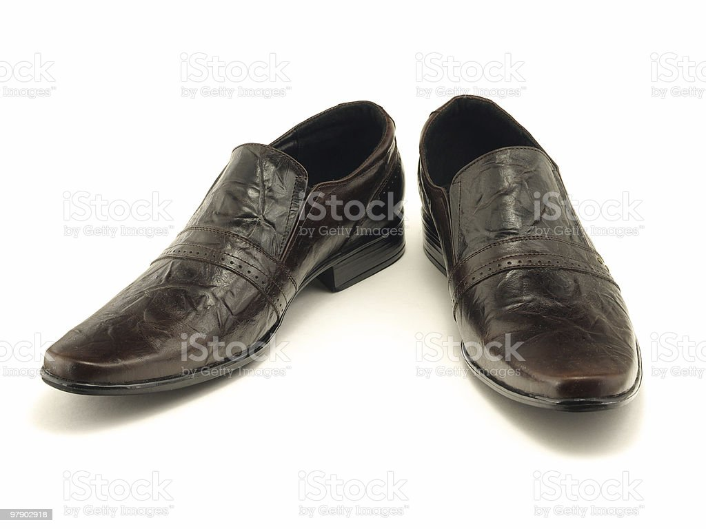 Two lacquered shoes royalty-free stock photo