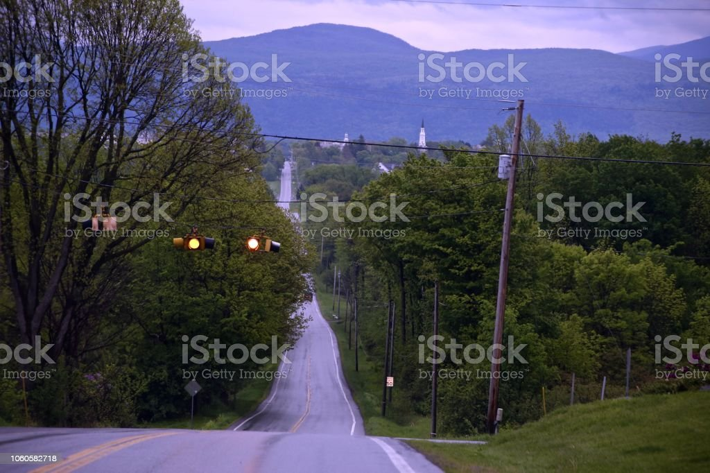 Two Lane Highway stock photo