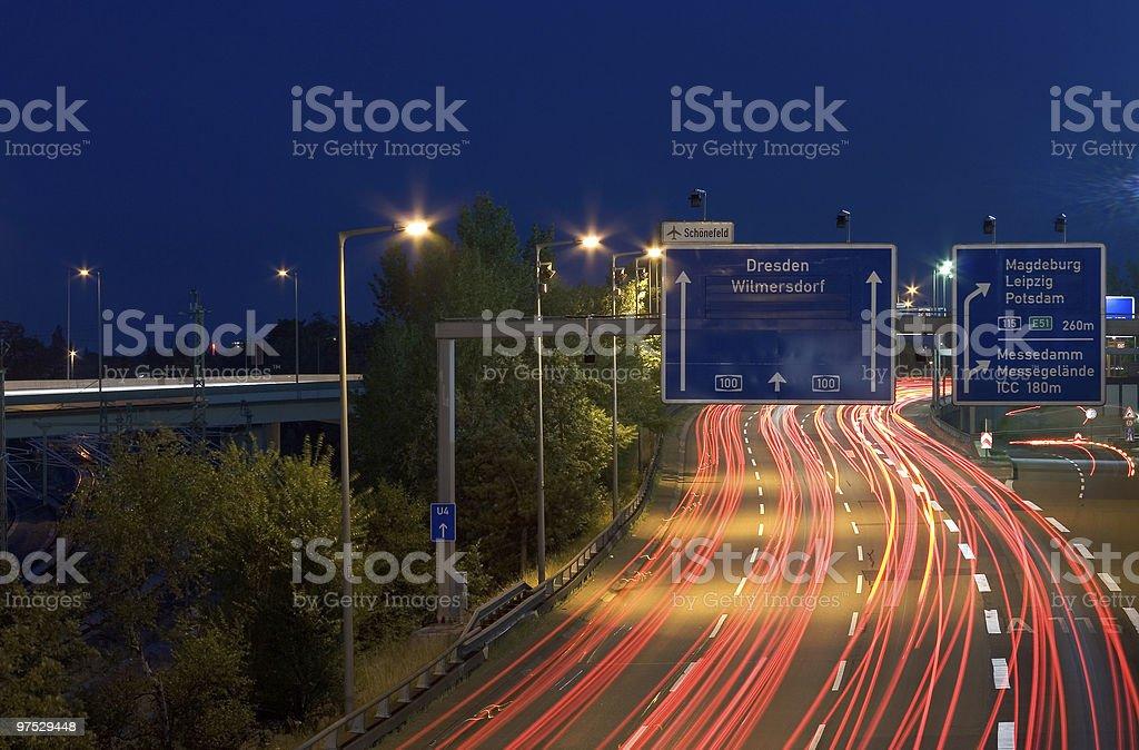 Two Lane Highway royalty-free stock photo
