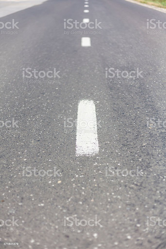 Two lane road III royalty-free stock photo
