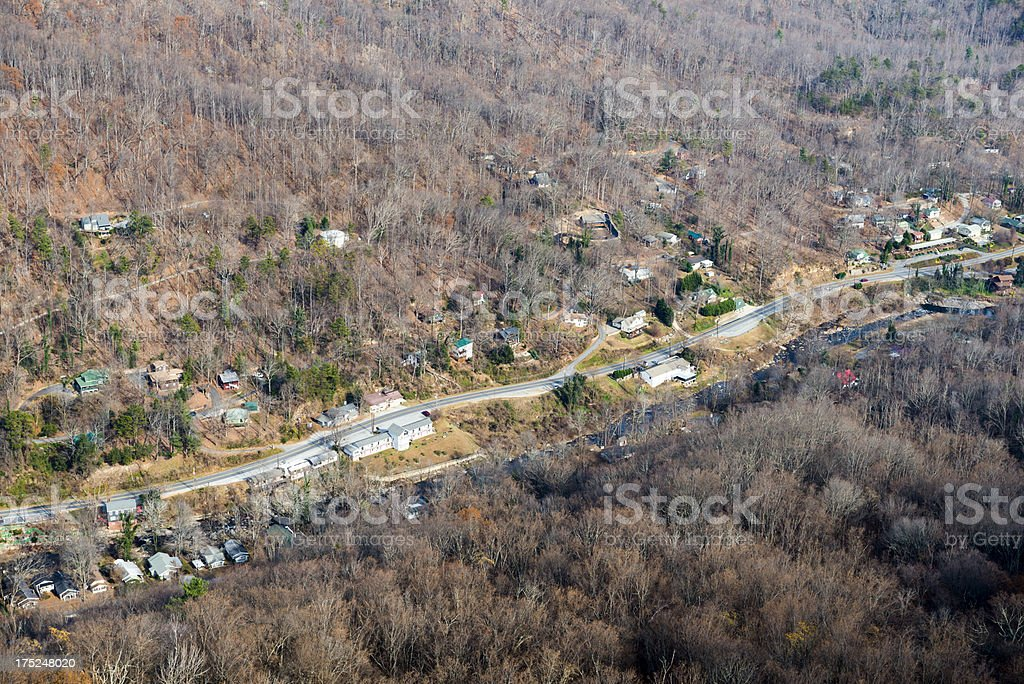 Rural community in mountains royalty-free stock photo