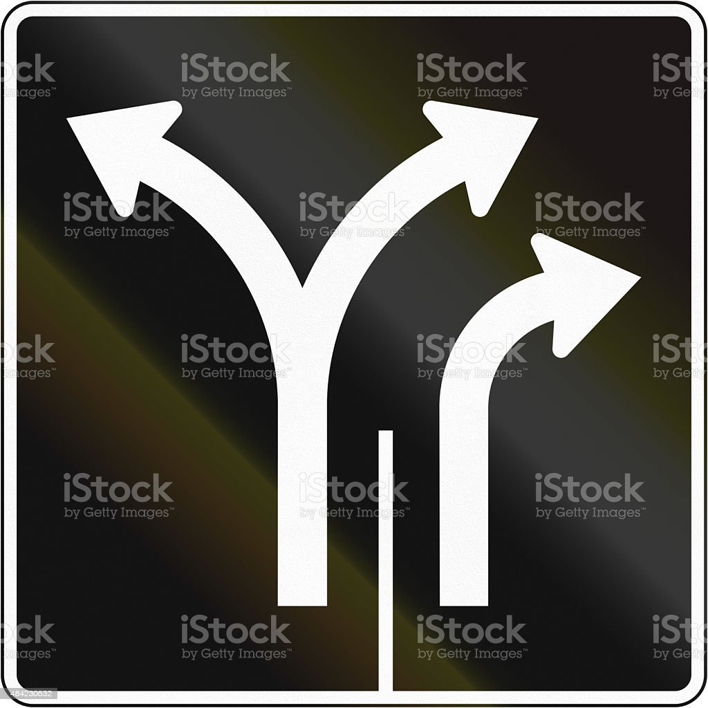 Two Lanes In Canada stock photo