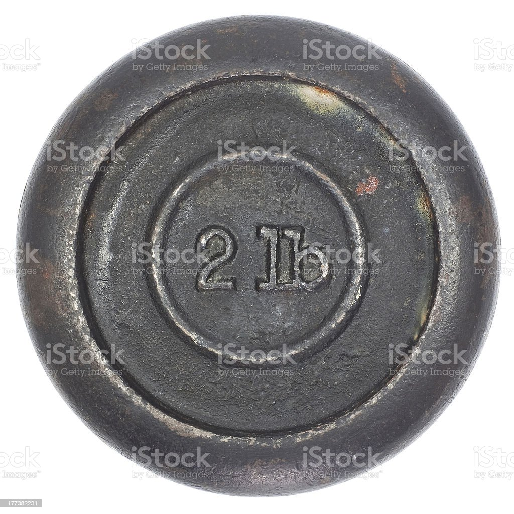 Two lbs Weight royalty-free stock photo