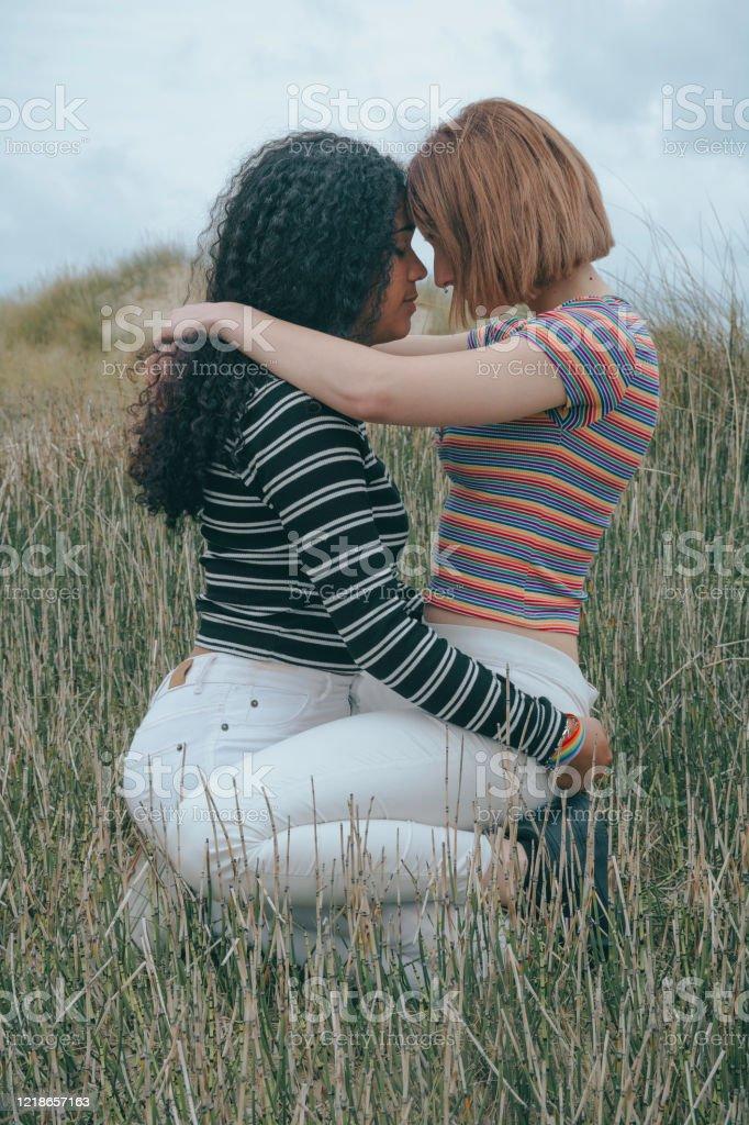 Two Lesbian Girls Kissing