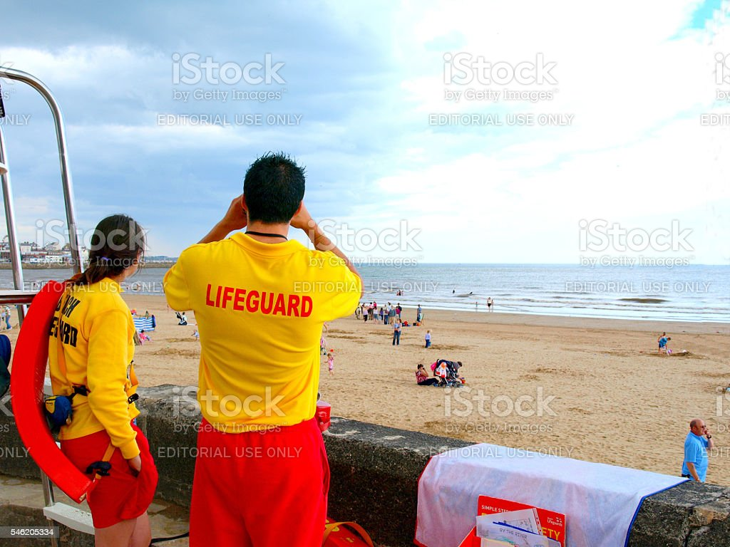 Two Lifeguards. stock photo