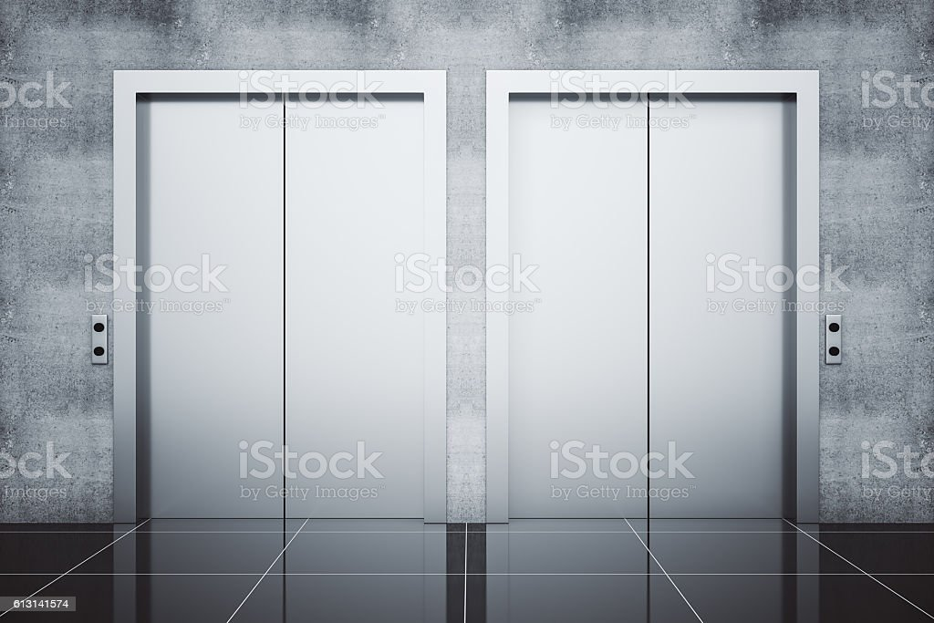 Two lifts stock photo