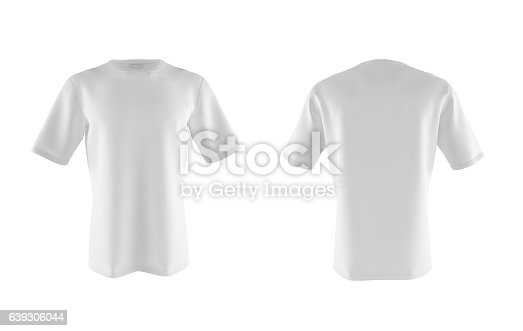 istock two light T-shirt isolated on white 639306044