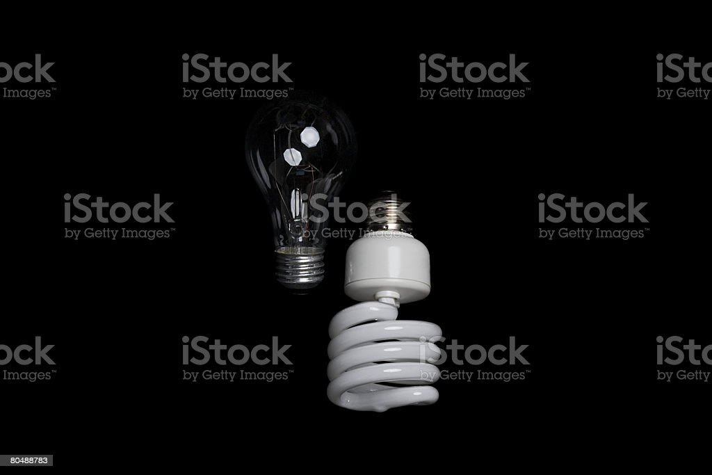 Zwei lightbulbs Lizenzfreies stock-foto