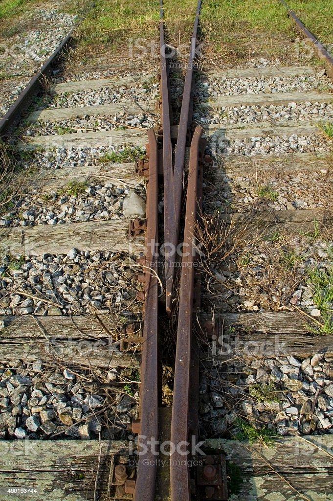 Deux lignes de chemin de fer - Photo