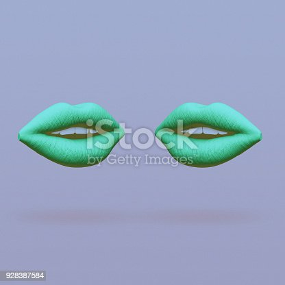 istock two lips face each other abstract minimalist art 928387584