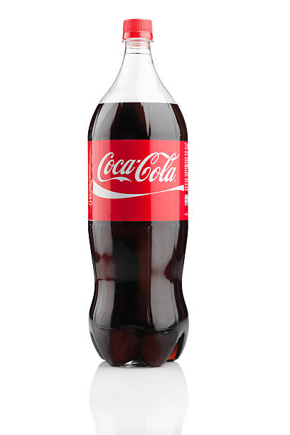 Two liter bottle of Coca Cola stock photo