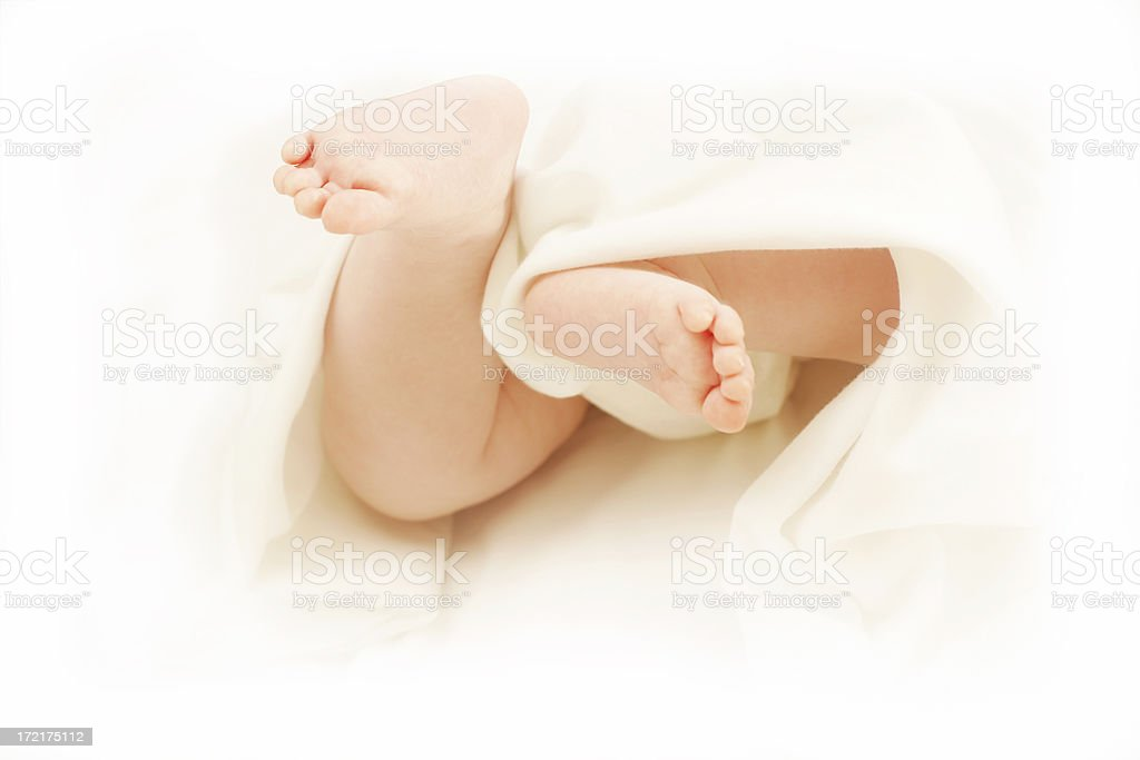 Two Little Feet royalty-free stock photo