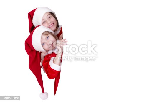 1069359694 istock photo Two little girls holding a banner 155232422