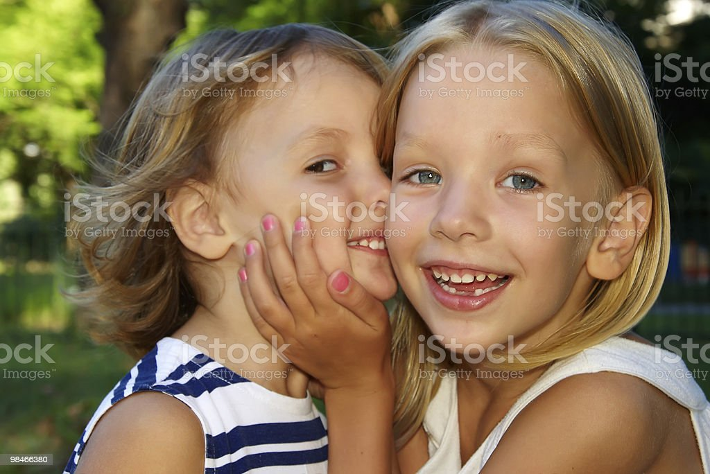 two little sisters royalty-free stock photo