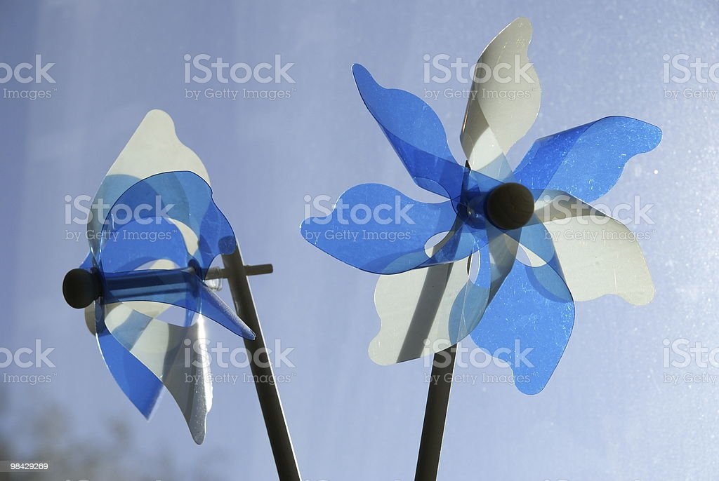 Two little windmills royalty-free stock photo