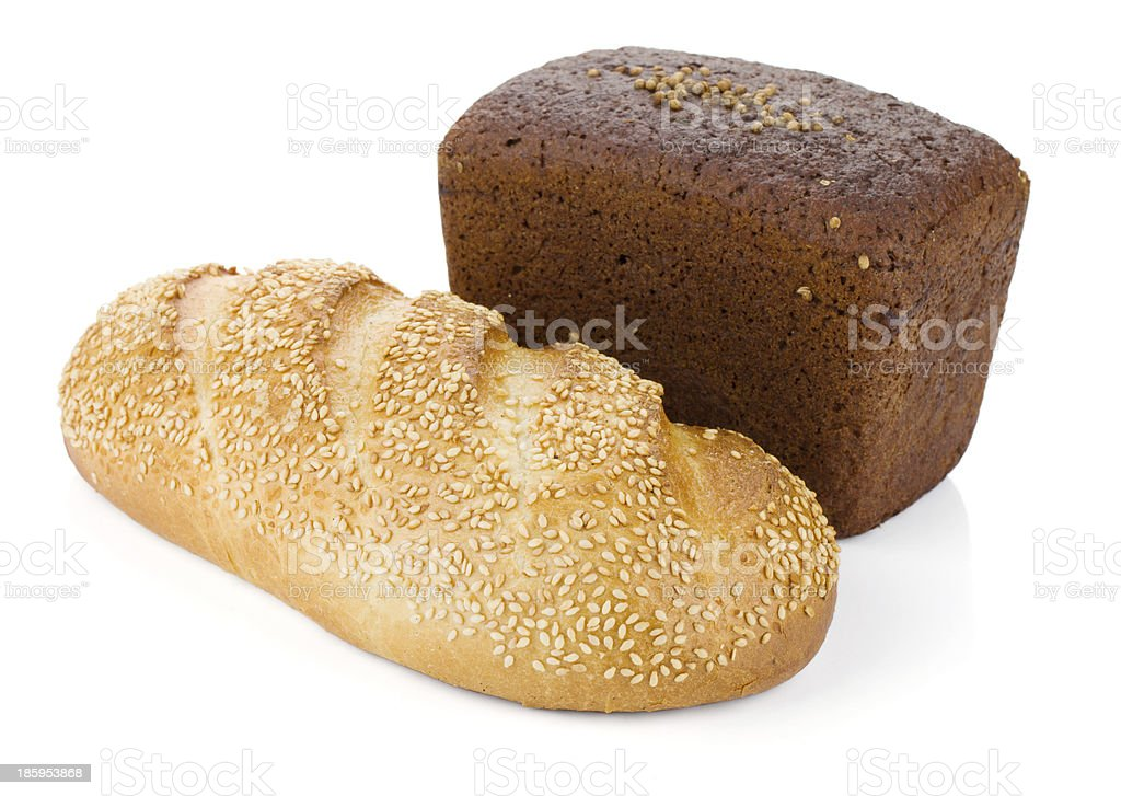 Two loafs of bread royalty-free stock photo