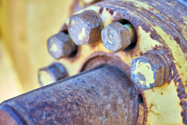 two loose bolts stock photo